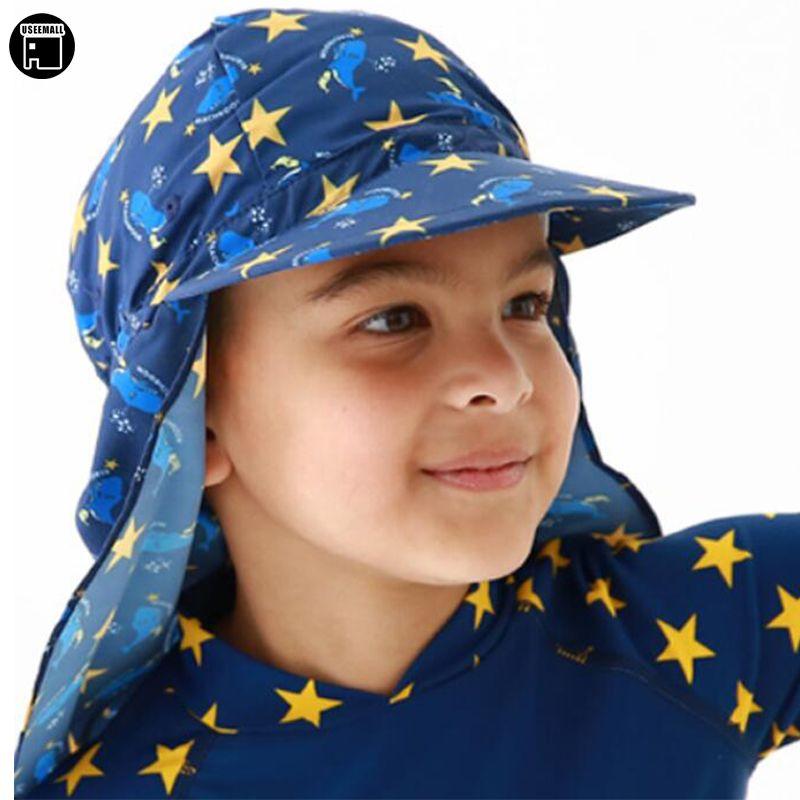 USEEMALL Neue Gehörschutz Badekappe Baby Kinder Jungen Mädchen ultraviolettbeweis Sonnenhut Cartoon Strand Hut Sonnenhut Hot verkauf