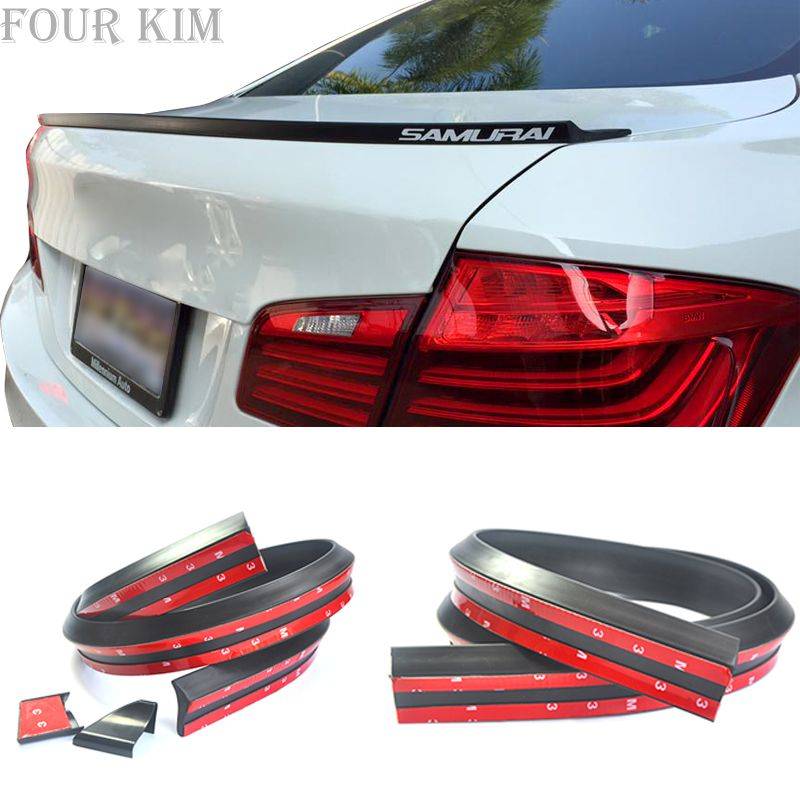 Car modified rubber tail spoiler rubber strip PU top wing 4CM wide Car Rear Spoiler Strip for BMW Audi Honda Mercedes-Benz