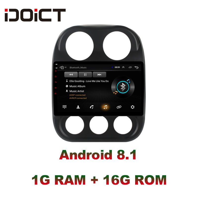 IDOICT Android 8.1 Auto DVD Player GPS Navigation Multimedia Für JEEP Compass Patriot Radio 2009-2016 auto stereo wifi