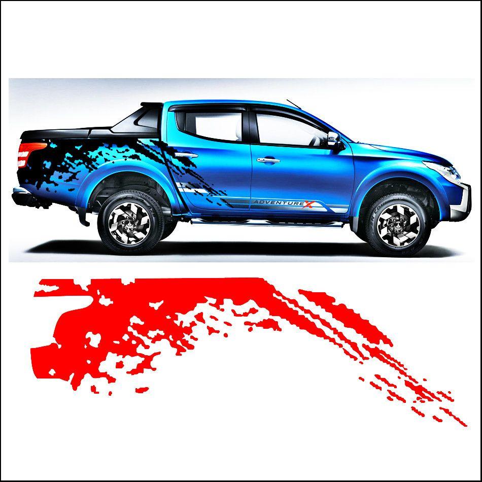 Autocollants de voiture garde-boue côté corps arrière queue graphique vinyle accessoires de voiture décalque modifié personnalisé pour MITSUBISHI L200 TRITON 2015