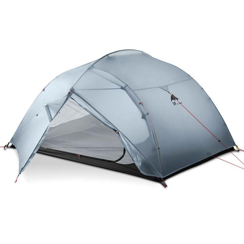 DHL freeshipping 3F UL GETRIEBE 3 Person 4 Saison 15D Camping Zelt Im Freien Ultraleicht Wandern Rucksack Jagd Wasserdichte Zelte