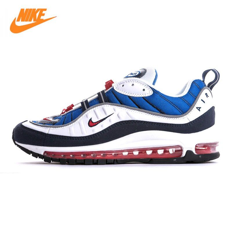 Nike Air Max OG 98 Gundam Men's Running Shoes,Original Sports Outdoor Sneakers Shoes, Blue, Non-slip Breathable 640744 100