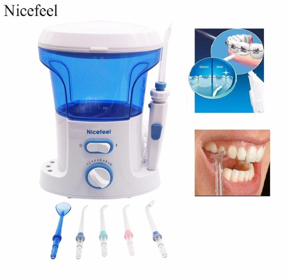 Home Pack Dentaire Eau Flosser-Jet D'eau Pour Les Dents et la soie dentaire hydropulseur 600 ml Réservoirs + 7 Conseils Pour Dent Accolades