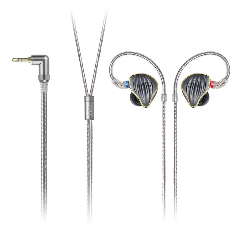 FiiO FH5 Metal Case Knowles Detachable Cable MMCX Design Quad Driver Hybrid HIFI Earphone 3.5mm for iOS and Android