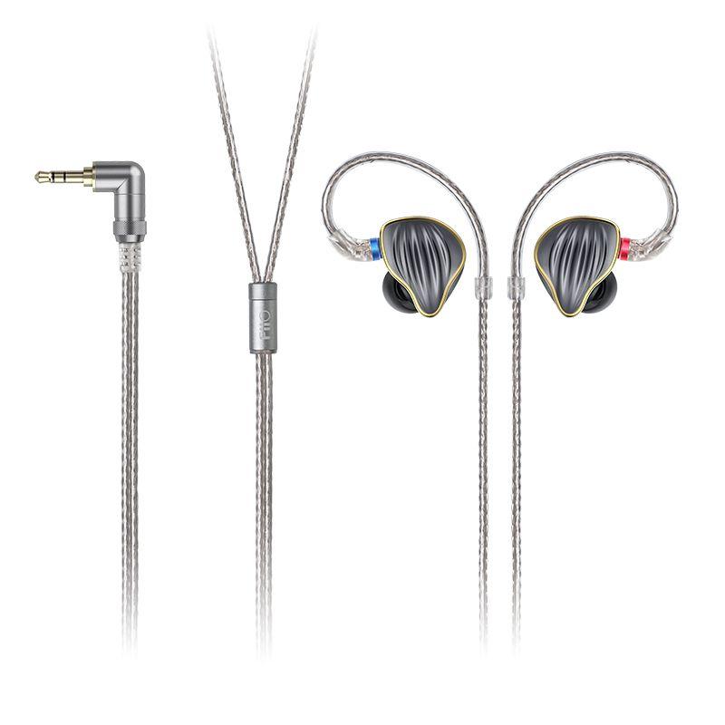 FiiO FH5 Metall Fall Knowles Abnehmbare Kabel MMCX Design Quad Fahrer Hybrid HIFI Kopfhörer 3,5mm für iOS und Android