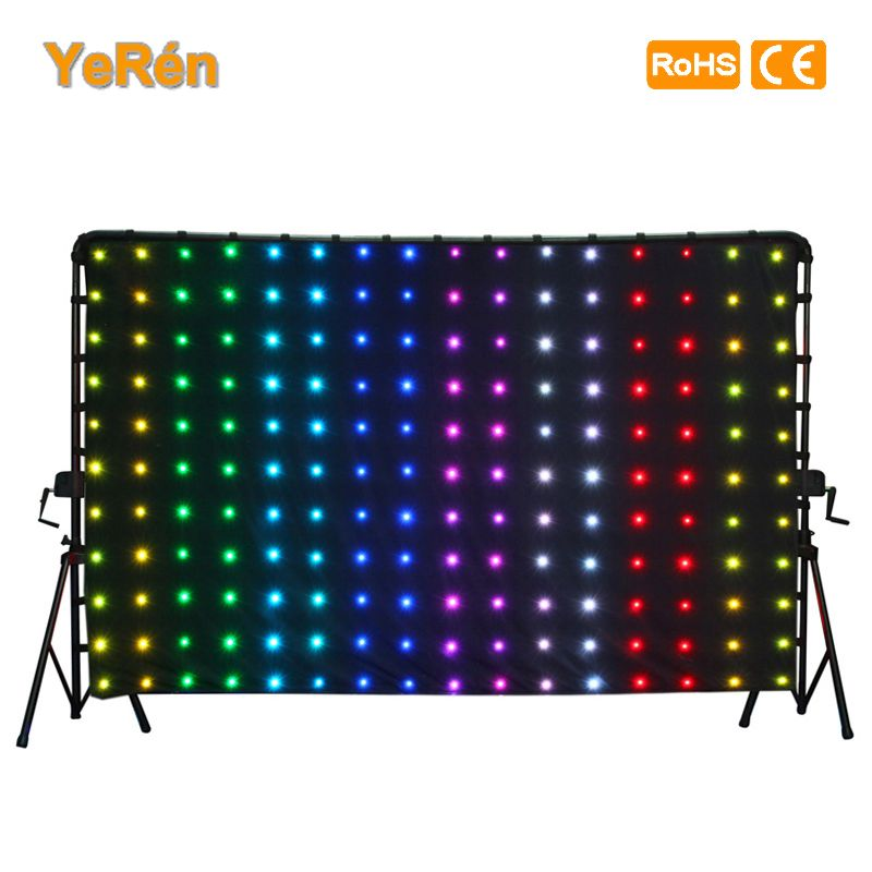 LED Drape Backdrop Video Curtain P18 2x3m 6.6x9.8ft Tri-color   LED Lamp  SD Controller DMX Controller