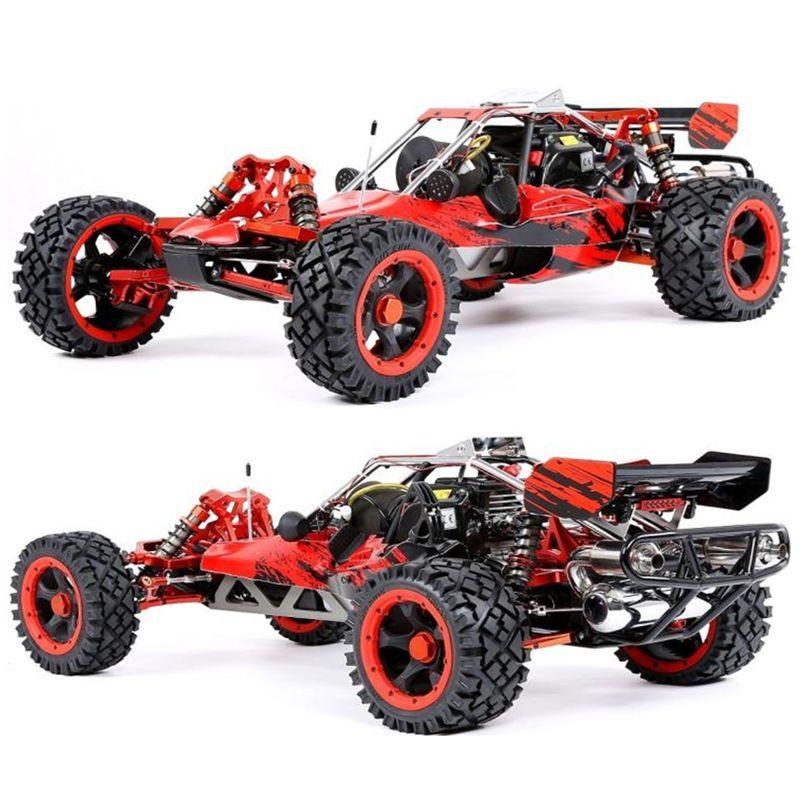 RUFAN Rovan 1/5 Skala Baja 5B 450 45CC Benzin Motor Legierung Vorne Hinten Arm Mit LED Licht Symmetrische Lenkung RC 2WD Lkw