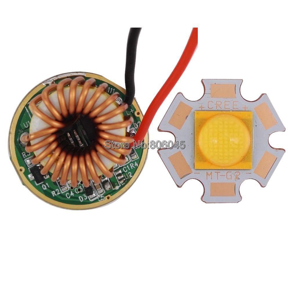 Cree XLAMP CXA MTG-2 MTG2 18 W 18 V 1A blanco caliente 3000 K LED de alta potencia LED emisor + DC12-15V 26mm 1 modo 18 W MT-G2 conductor