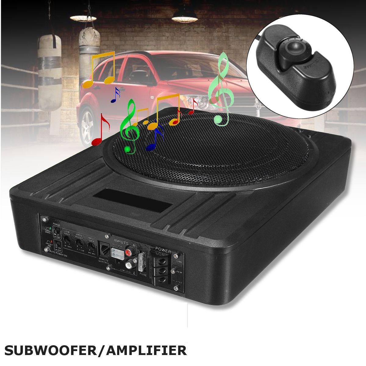 KROAK Gehäuse Universal 10 Zoll 600 watt Dünne Unter-Sitz Powered Auto Subwoofer Verstärker Amp Super Bass Auto Lautsprecher subwoofer