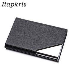 Itapkris визитница для кредитных карт для женщин и мужчин модный бренд Металлический Алюминиевый футляр для карт памяти из искусственной кожи