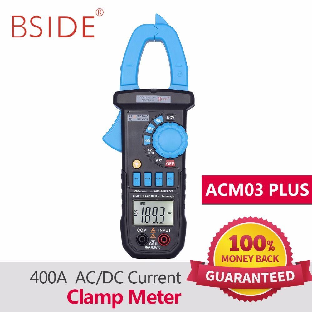 BSIDE Digital Multimeter 400A AC/DC Current Clamp Meter ACM03 PLUS Capacitance Frequency Tester Induction Voltage Alarm