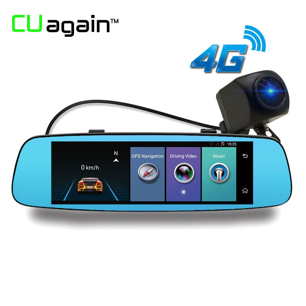 CUagain CU6 Smart Dash Cam 4G DVR 8' Car GPS Android Mirror Camera Wifi ADAS Bluetooth Video Recorder Touch Screen DVR Carro