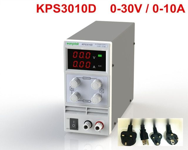KPS3010D Adjustable High precision double LED display switch DC Power Supply protection function 30V10A 110V-230V diy regulated