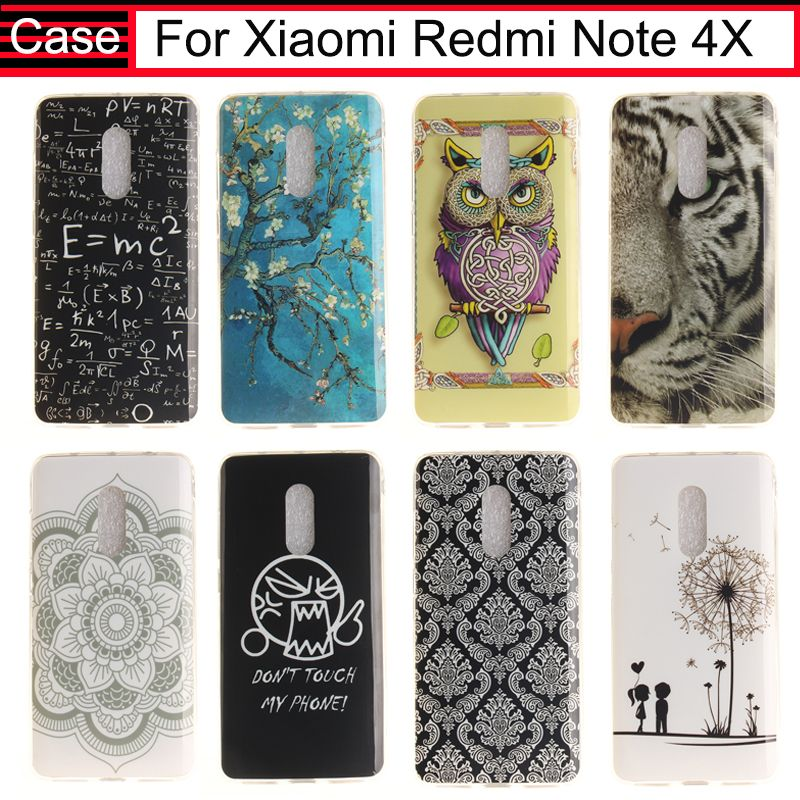 JURCHEN De Luxe Cas Pour Xiaomi Redmi Note 4X Cas Silicone TPU Doux Flip Case Pour Xiaomi Xiomi Redmi Note 4X Cas Couverture 5.5 Capa