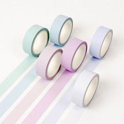 12 warna Lembut warna kertas washi masking tape tape 15mm * 8 m murni stiker Dekoratif DIY Alat Tulis sekolah persediaan 6583