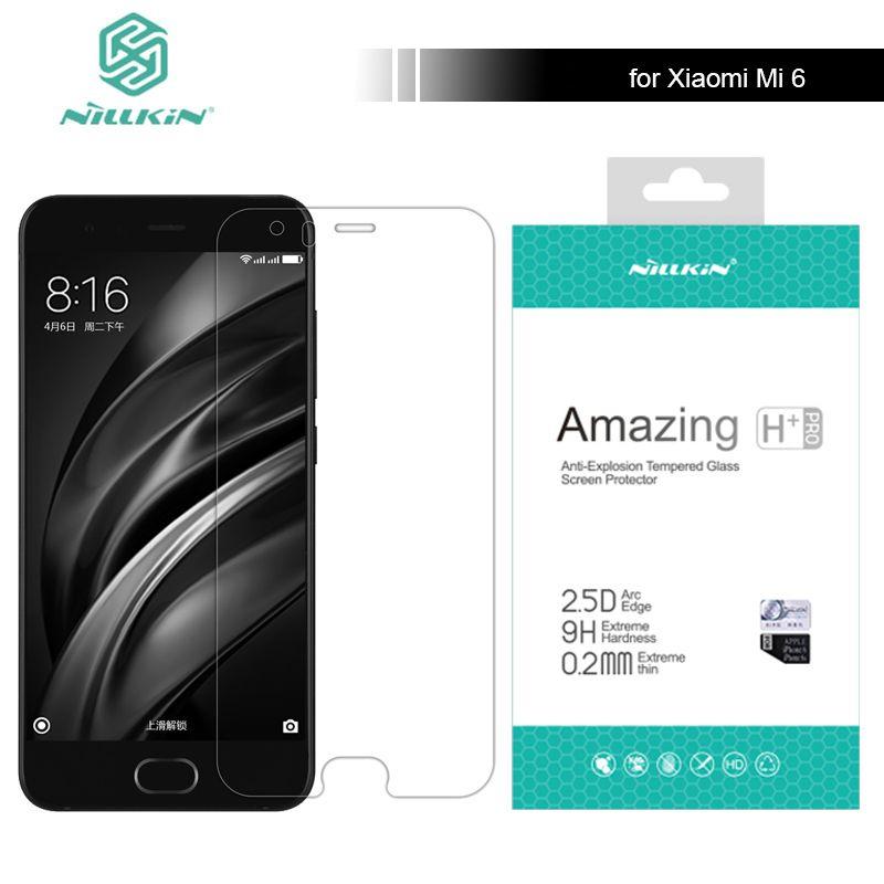 Para Xiaomi Mi6 M6 9 H Templado Protector de Pantalla de Cristal Increíble H/H + Pro 5.15 pulgadas Para Xiaomi mi 6 M6 Pro Nilkin Vidrio