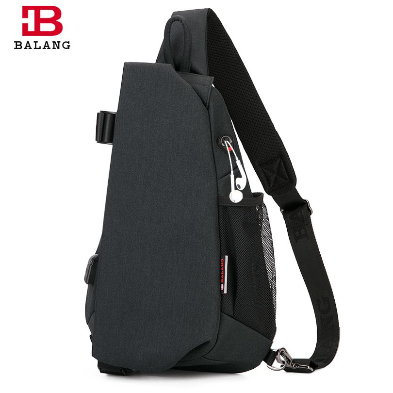 BALANG Men's Casual Multi-functional Chest Pack Waterproof Crossbody Bag fou Ipad New Anti-theft Sling Bags for Boys and Girls