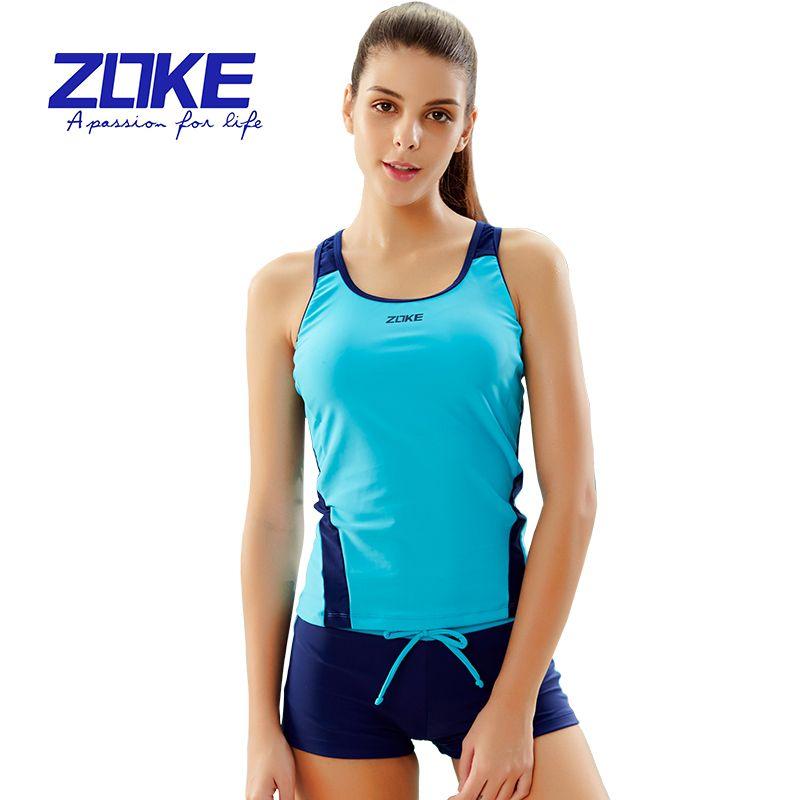 ZOKE Sports swimsuit, women's split swimsuit, students' two piece swimsuit