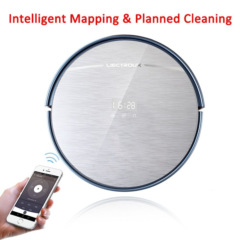 LIECTROUX Most Advanced Robot Vacuum Cleaner X5S with WIFI APP Control, Map Navigation,Big Dustbin&Water tank, Wet Dry Mop,