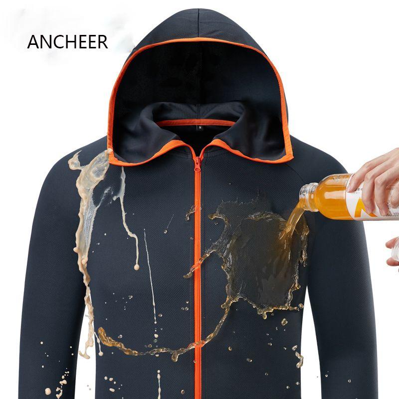 Vêtements de pêche homme soie de glace hydrophobe Camping en plein air randonnée vestes à capuche imperméable Anti-encrassement séchage rapide-protéger