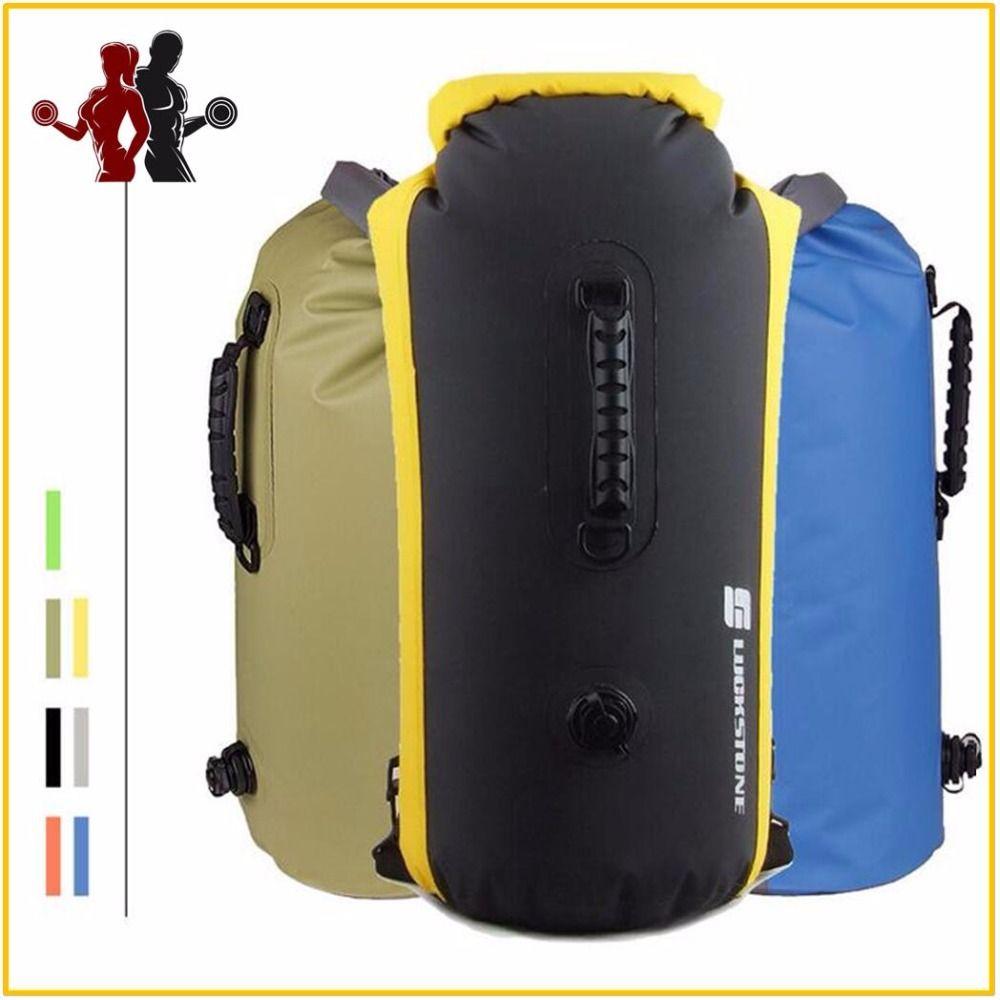 60L grand sac étanche de natation professionnel sac sec de stockage de Rafting avec crochet de sangle réglable à la dérive sac à dos sec de plongée