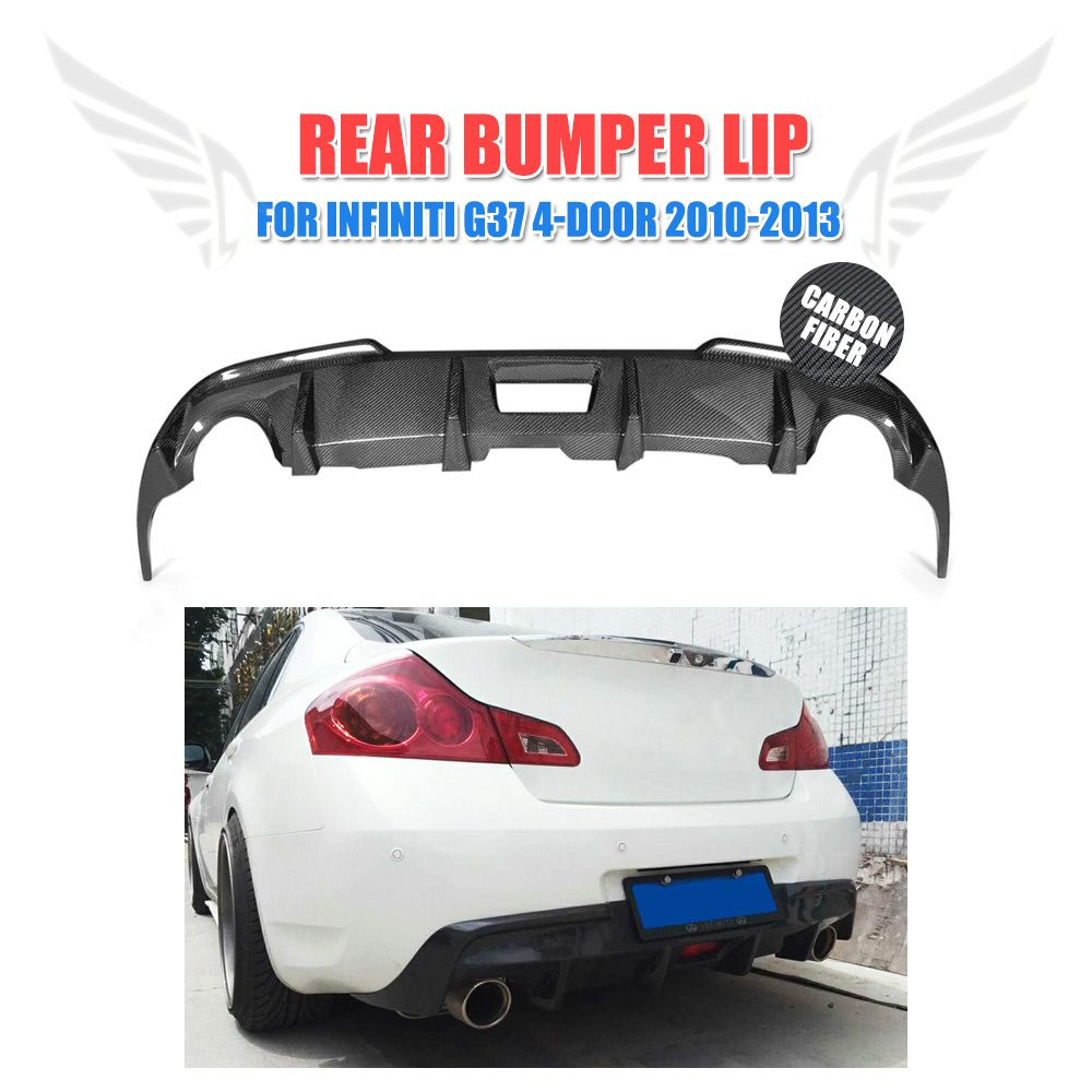 Carbon Faser Auto Heckschürze Lippe Diffusor für Infiniti G37 4-Tür Basis Limousine X Limousine 2009-2013