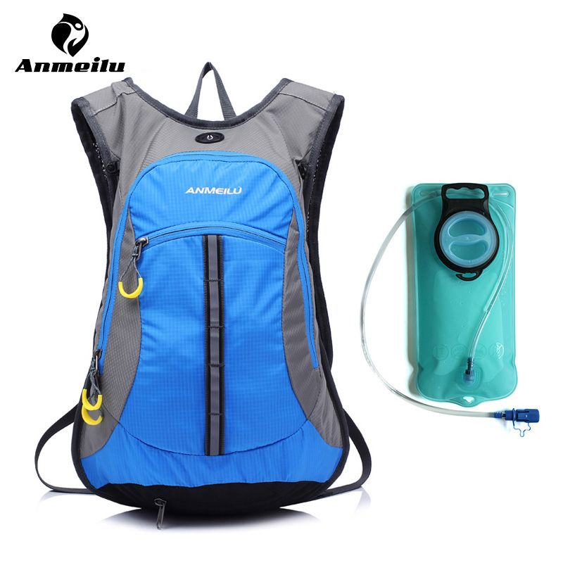 ANMEILU 2L Water Bag + 15L Hydration Backpack 6 Colors Outdoor Sport Waterproof Hiking Cycling Mochila Hidratacion Camelback