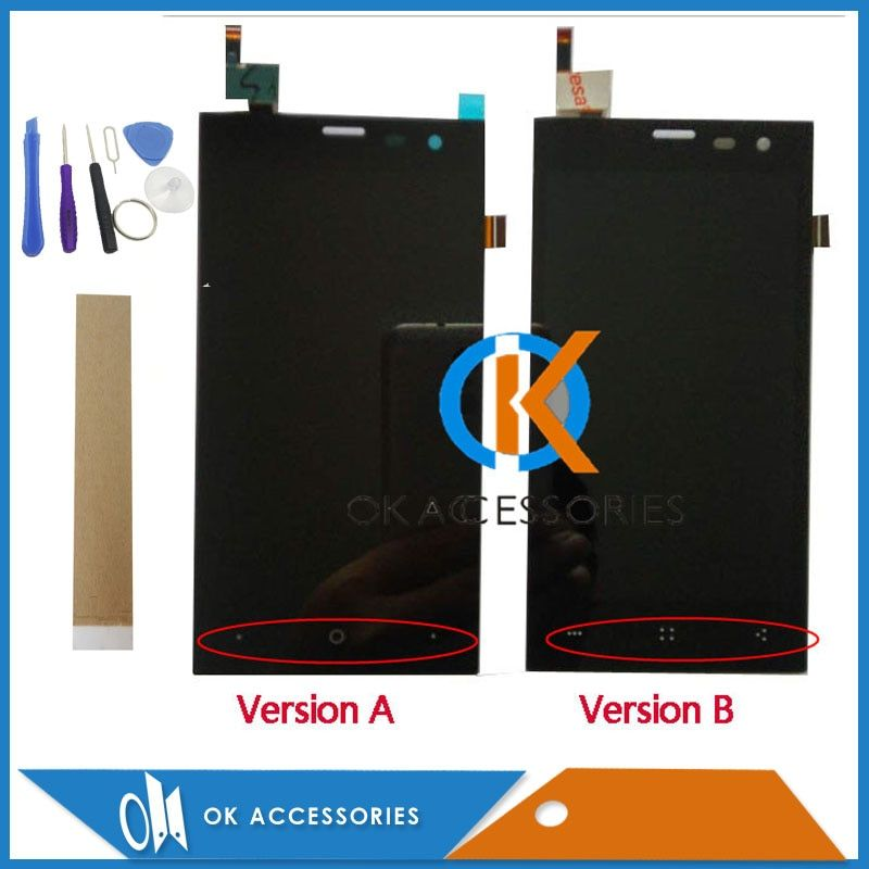 High Quality For Highscreen Zera S (rev.S) LCD Display+Touch Screen Digitizer Assembly Black Color With Tools <font><b>Tape</b></font>