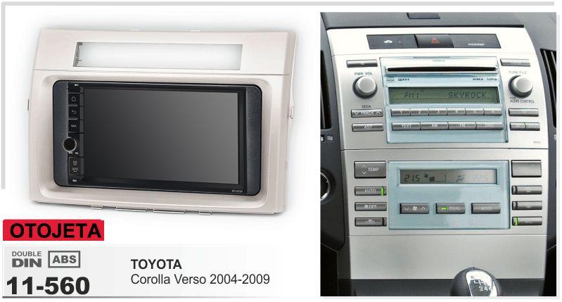 Navirider Android 8.1 auto multimedia player band recorder (rahmen + radio serie) fit für TOYOTA corolla verso 2004-2009 gps