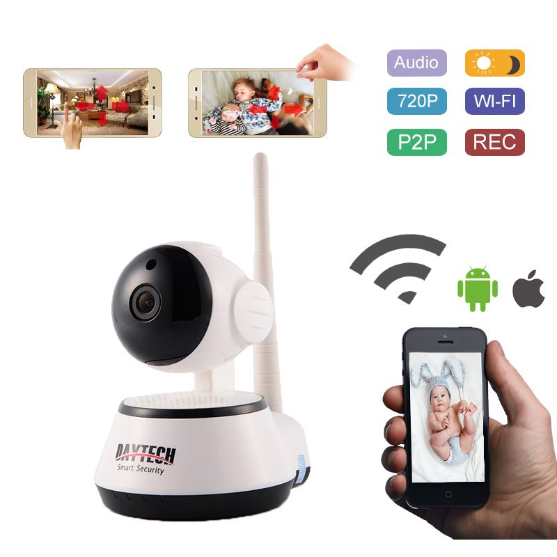 Daytech WiFi IP Camera 720P Home Security Camera Surveillance Wireless Wi-Fi Baby Monitor Night Vision IR Two Way Audio