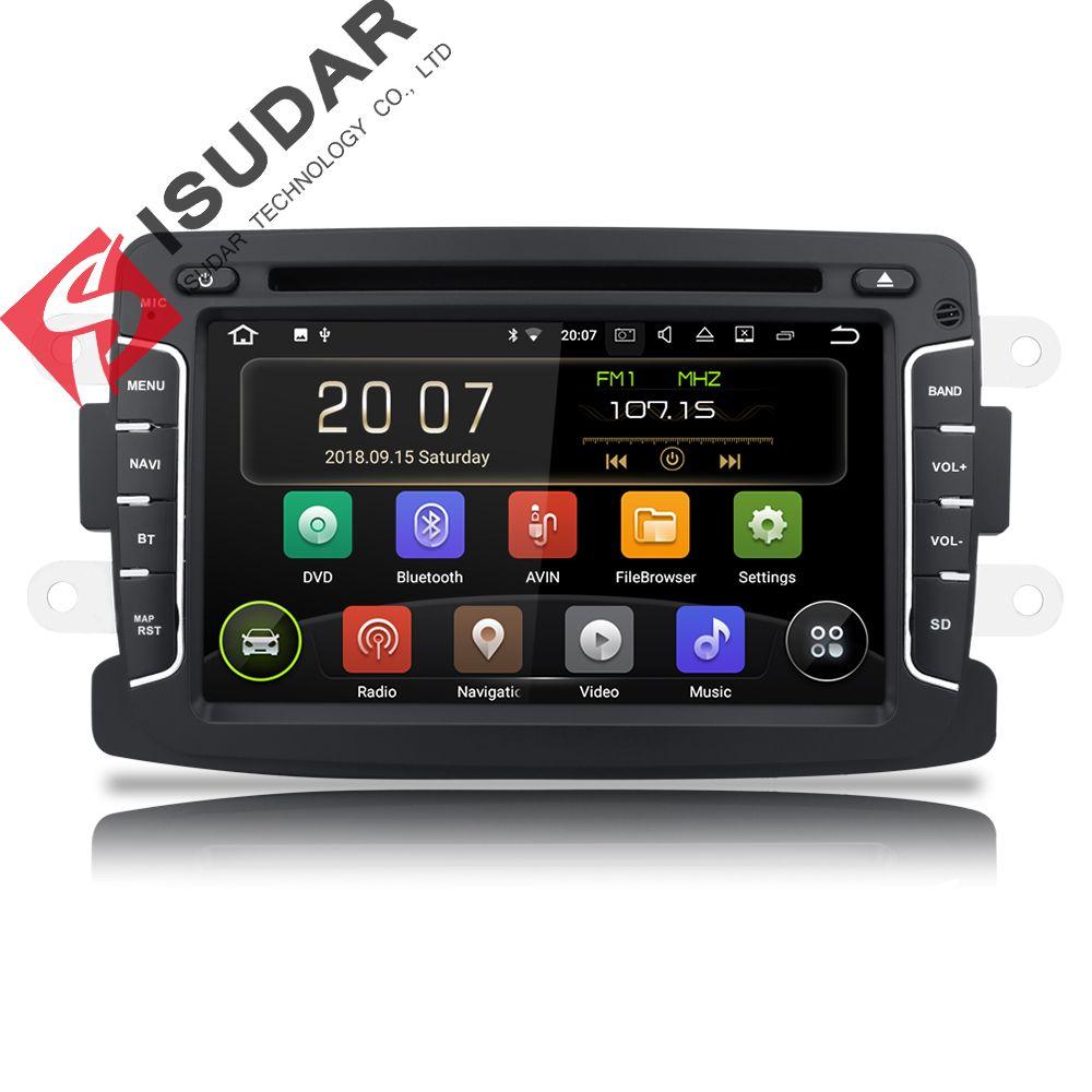 Isudar 2 Din Auto Radio Android 9 Für Dacia/Sandero/Duster/Renault/Captur/Lada/Xray 2/Logan2 Auto Multimedia Video Player GPS DVR