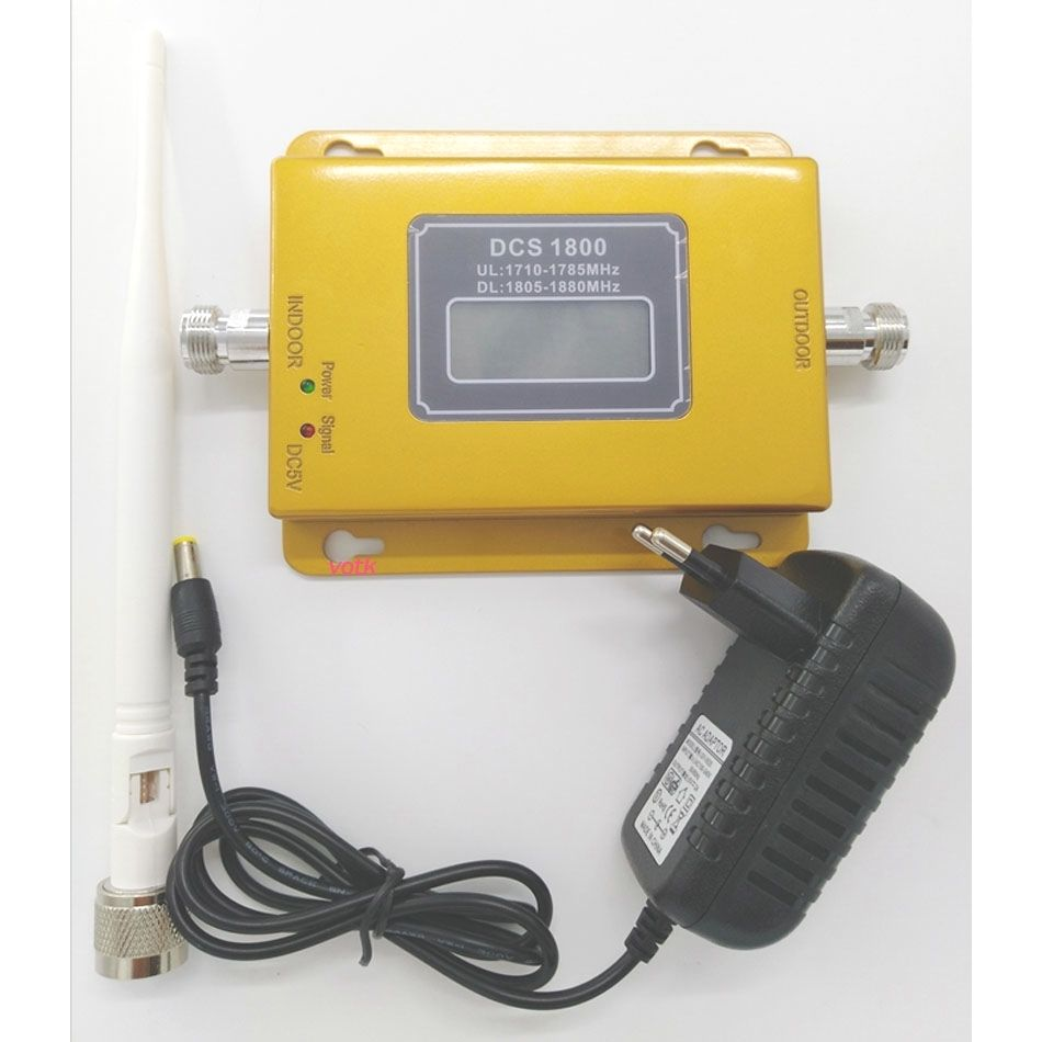 VOTK 1800mhz DCS signal booster Cell Phone DCS 2G 4G Signal Repeater LTE 1800 Mobile signal amplifier with indoor antenna