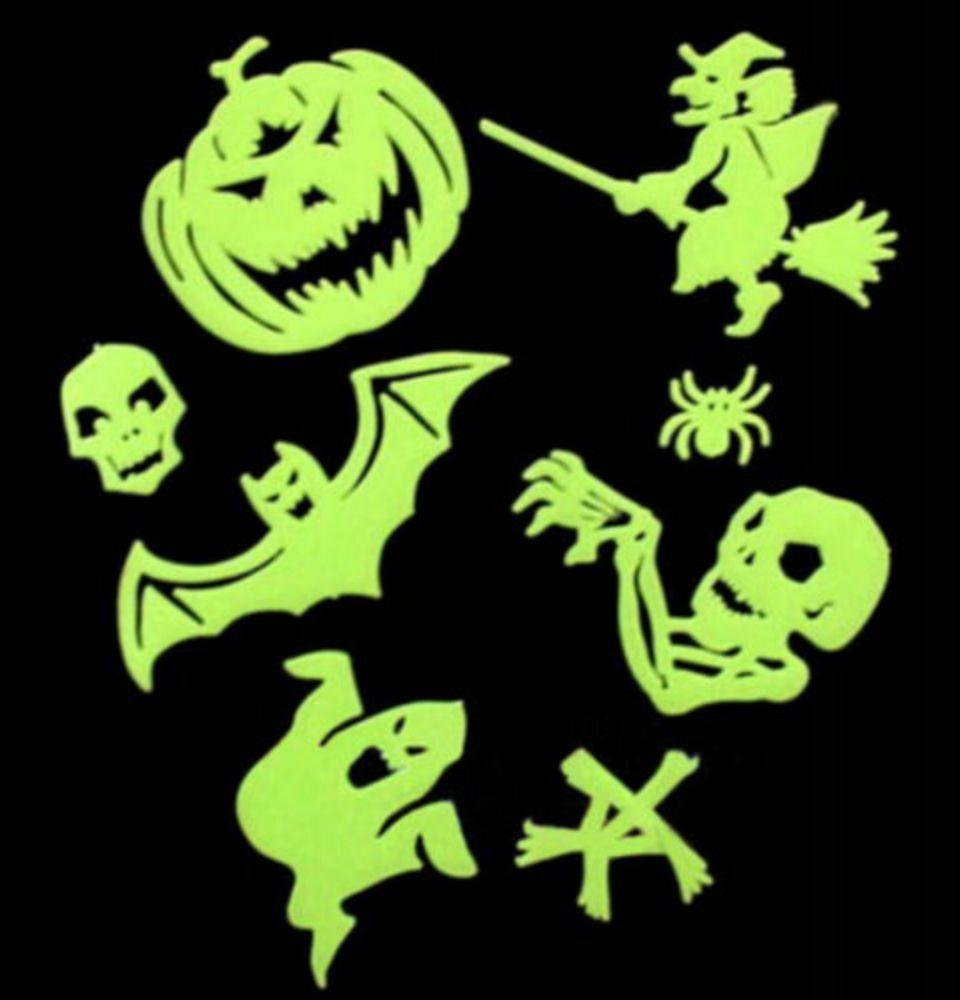 FD2709 Halloween Glow in Dark Fluorescent Wall Luminous Stickers Decal Decor