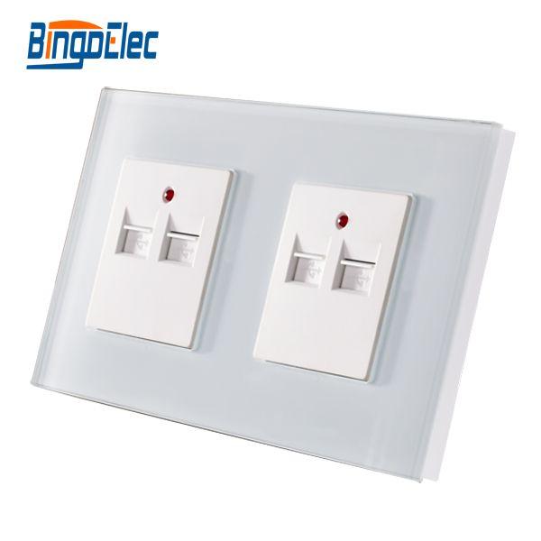 EU/UK Standard 2gang double 3.1A 3100MA USB Wall Socket ,Crystal Glass Panel,AC100-240V,5V 3.1A
