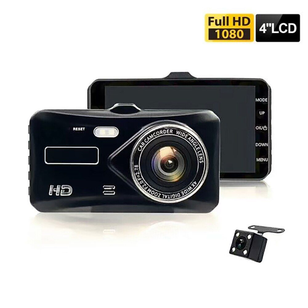 Dual Lens Vehicle Camera Full HD 1080P 4