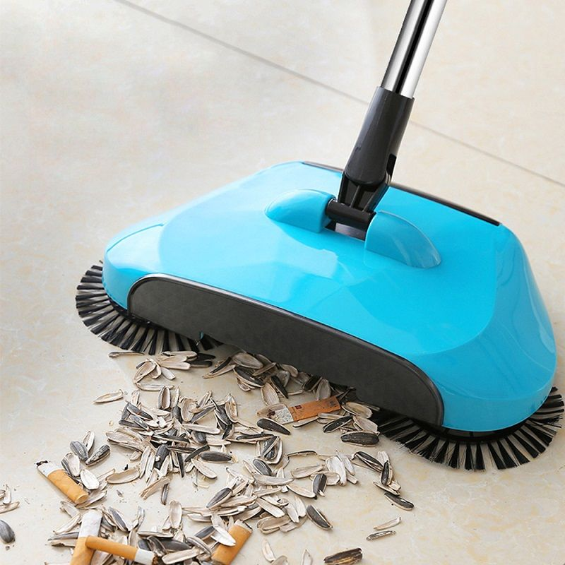 Stainless <font><b>Steel</b></font> Sweeping Machine Push Type Hand Push Magic Broom Dustpan Handle Household Cleaning Package Hand Push Sweeper mop