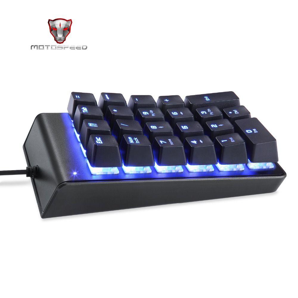 MOTOSPEED K22 clavier numérique mécanique filaire 22 touches Mini Numpad rétro-éclairage clavier disposition étendue pour caissier interrupteur rouge