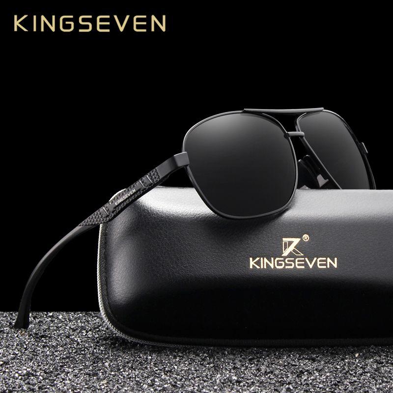 KINGSEVEN 2019 marque hommes en aluminium lunettes de soleil polarisées UV400 miroir mâle lunettes de soleil femmes pour hommes Oculos de sol