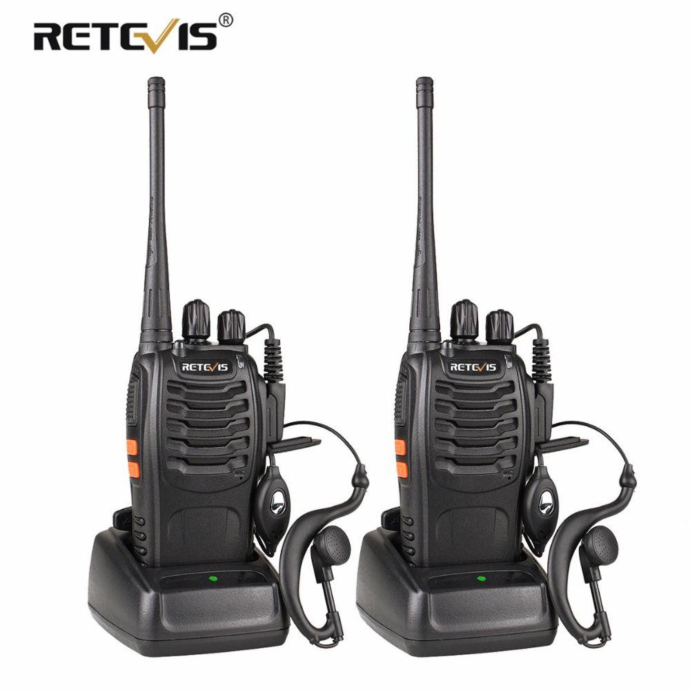 2 pcs Retevis H777 Talkie Walkie UHF 400-470 MHz Ham Radio Hf Émetteur-Récepteur Radio Bidirectionnelle Communicateur USB de charge Walkie Talkie