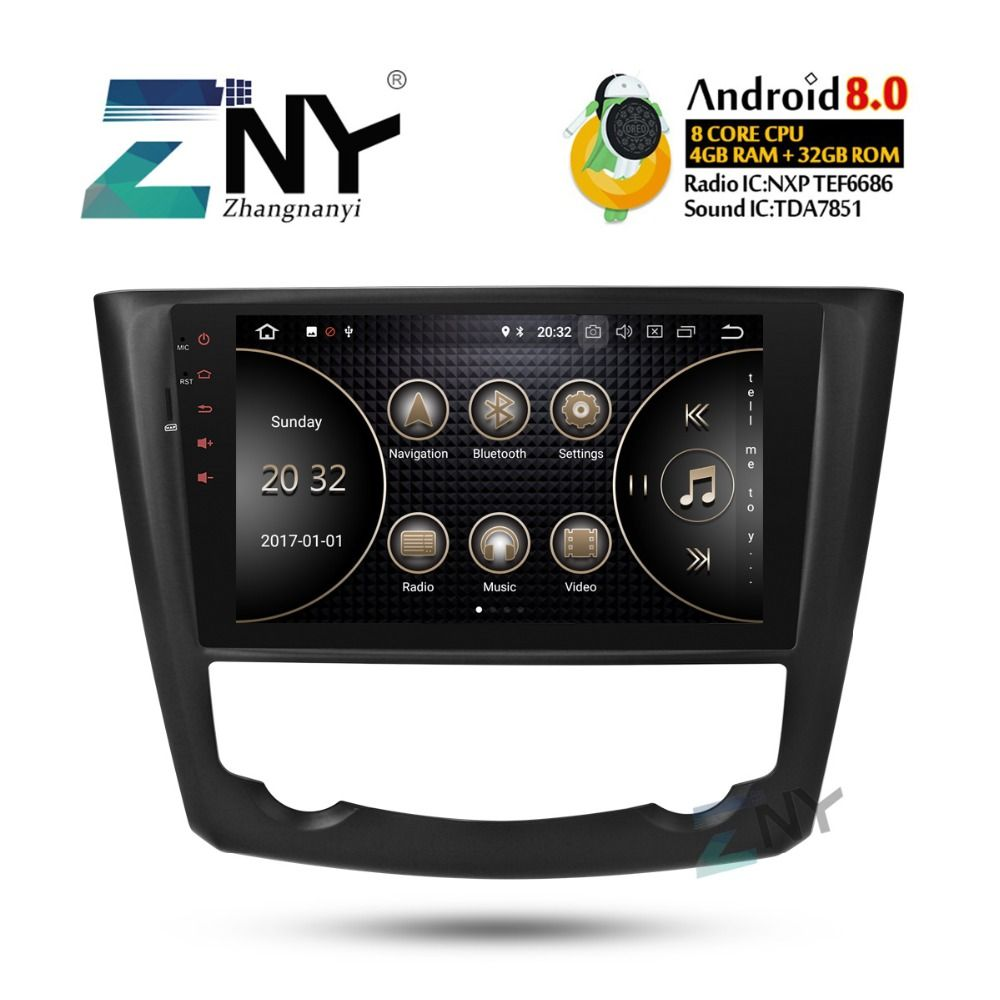 9 IPS Android 8.0 Auto Stereo GPS Für Renault Kadjar 2015 2016 2017 Auto Radio FM + Optional DSP/ carplay/DAB +/64 GB ROM/Papagei BT