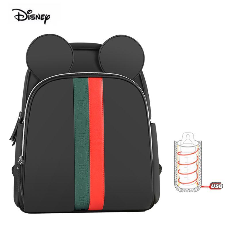Original Disney Mutterschaft Rucksack Multifunktions Mode Große Kapazität Postpartale Wasserdichte Windel Windel Rucksack Für Reise