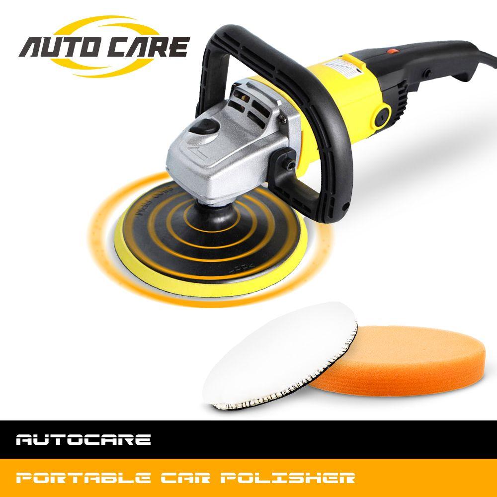 1200 W voiture polisseuse vitesse Variable 3000 tr/min 180mm voiture outil de soin de peinture Machine de polissage ponceuse 220 V M14 électrique polisseuse de sol