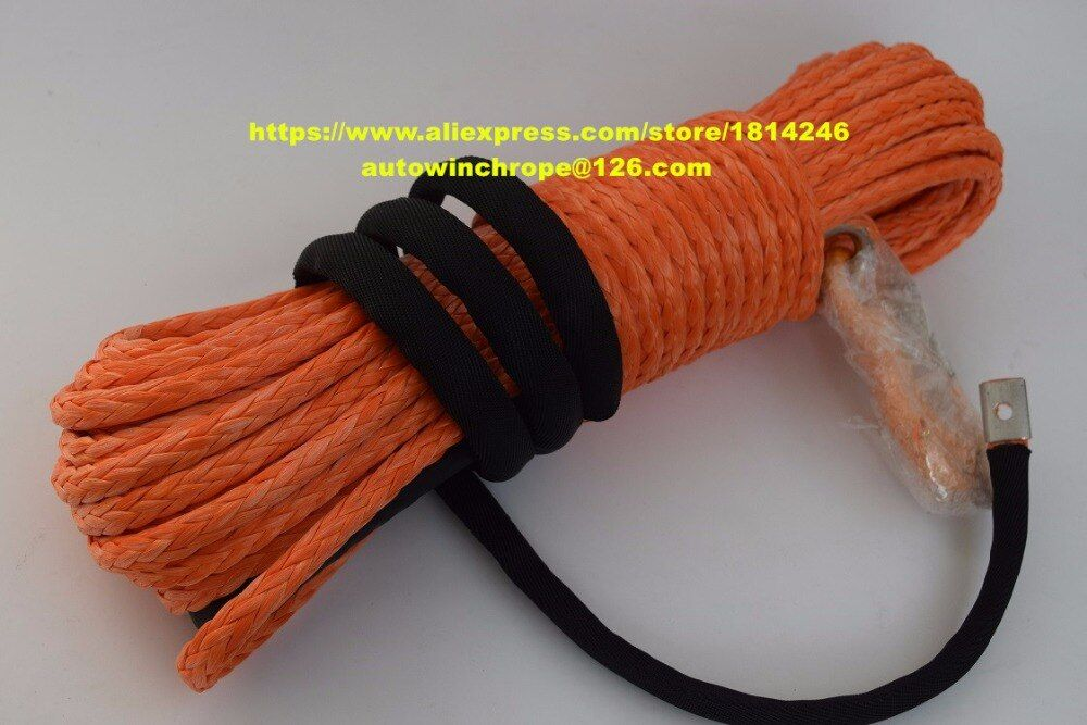 Good Quality 10mm*30m Orange Synthetic Winch Rope,ATV UTV Winch Accessories,Off Road Rope,Boat Winch Rope