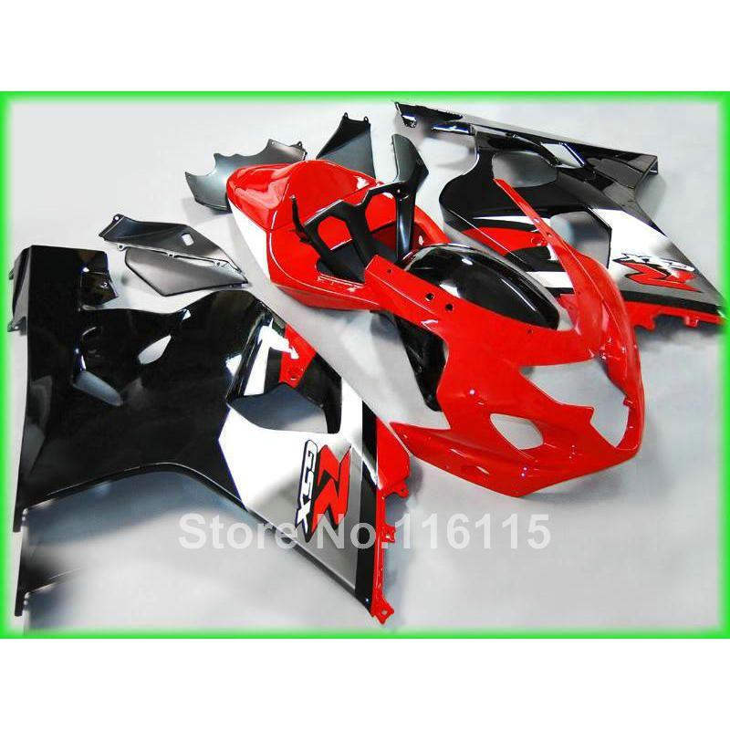 Customize fairing kit for SUZUKI GSXR600 GSXR750 K4 2004 2005 red white black fairings bodywork set GSXR 600 750 04 05 JJ38