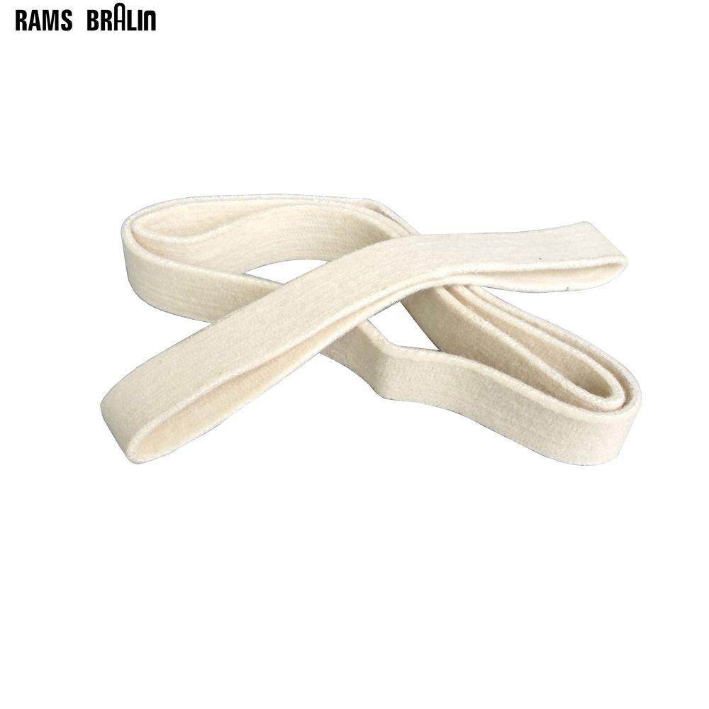 3 pièces 40*740mm laine feutre ceinture de polissage en acier inoxydable tuyau bandes de ponçage miroir polonais fil polisseur