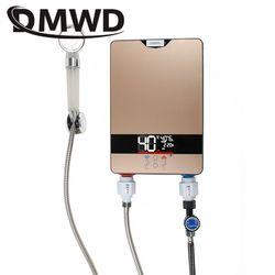 DMWD мгновенный Tankless Электрический водонагреватель кран Кухня быстрый нагрев коснитесь душ нагреватели водопроводные ванная светодиодный ...