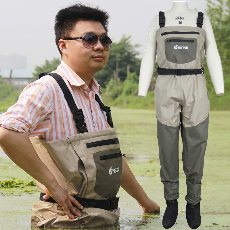 Rafting wear waterproof wader, stocking foot chest waders for hunting, fly fishing wader