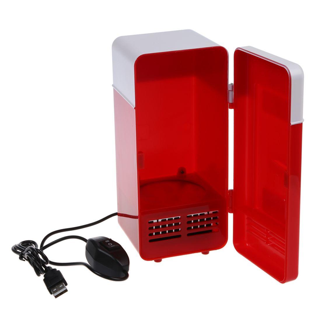 Desktop Mini Kühlschrank USB Gadget Getränke Dosen Kühler Wärmer Kühlschrank Mit Interne LED Licht Auto Verwenden Mini Kühlschrank