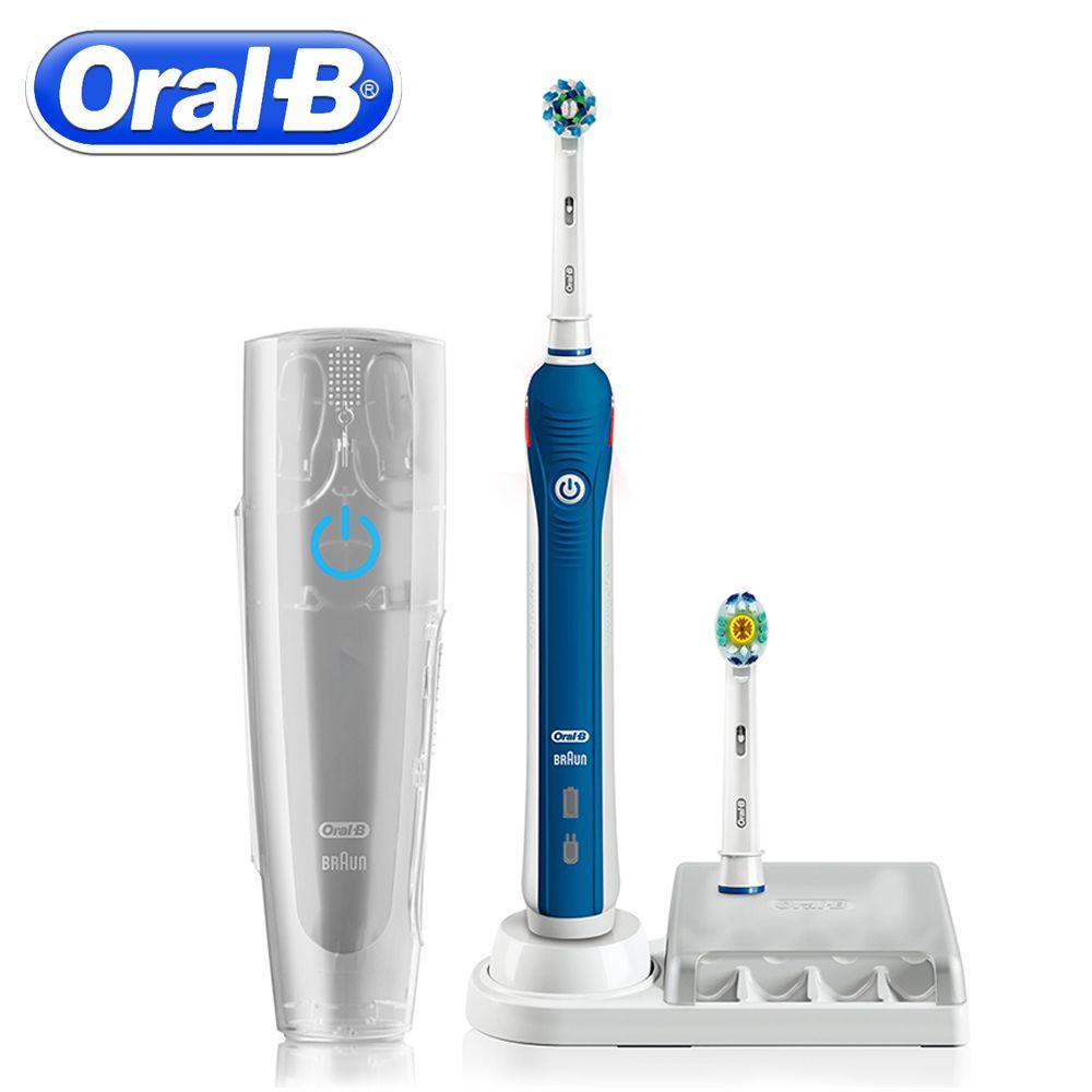 Oral B Ultraschall Elektrische Zahnbürste Zähne Whitening Wiederaufladbare PRO4000 3D Smart Zahnbürste Täglich Saubere Zahnbürste