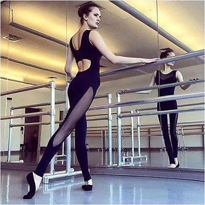 2017 new Womens Fashion Sexy black Jumpsuit  Active Wear Fitness Stretch Pants s m l